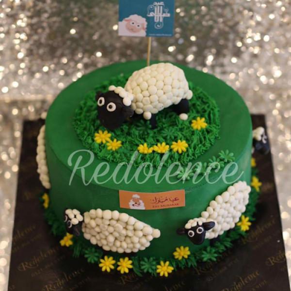 3lbs Eid-ul-Ahda Green Cake from Redolence Bake Studio