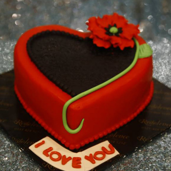 3lbs I Love You Heart Cake from Redolence Bake Studio
