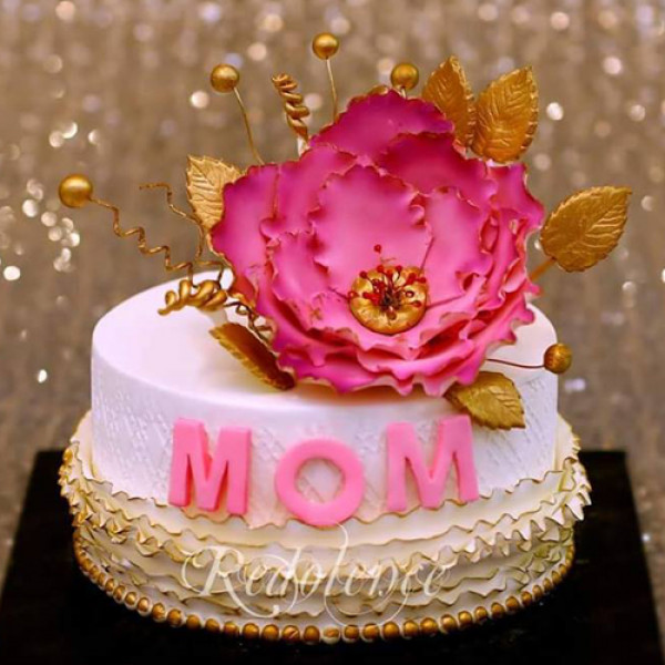 3lbs Pink and Golden Mother Cake from Redolence Bake Studio