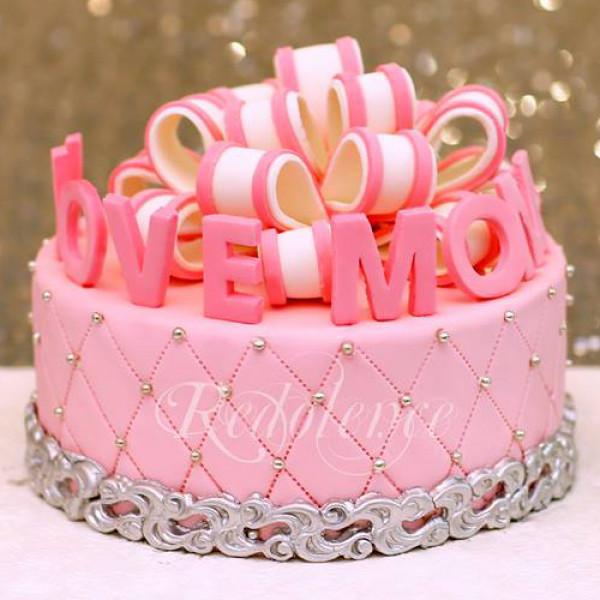 3lbs Pink Love Mom Cake from Redolence Bake Studio