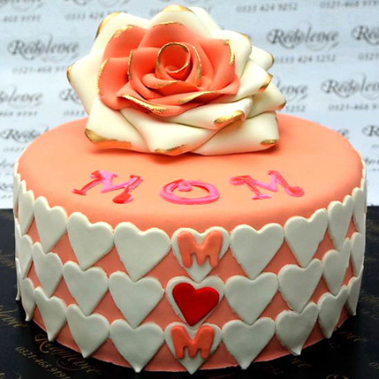 3lbs Pink Rose Cake for Mother by Redolence