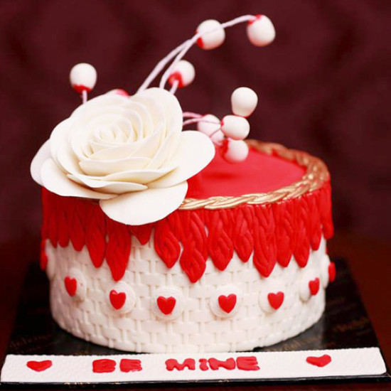 3lbs Red and White Be Mine Cake form Redolence Bake Studio