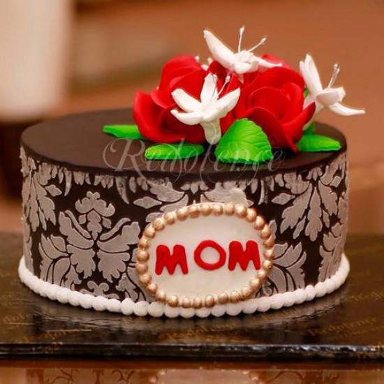 3lbs Red Flower Mom Cake from Redolence Bake Studio