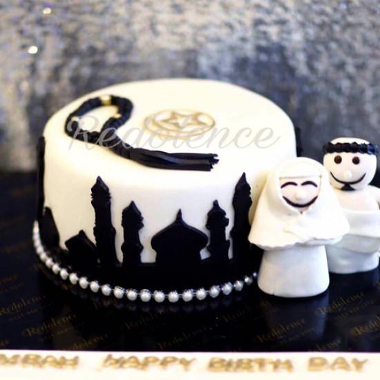 3lbs Umrah Mubarak Cake from Redolence Bake Studio