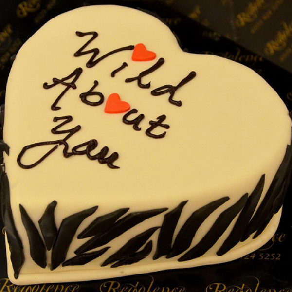 3lbs Wild About You Heart Cake from Redolence Bake Studio