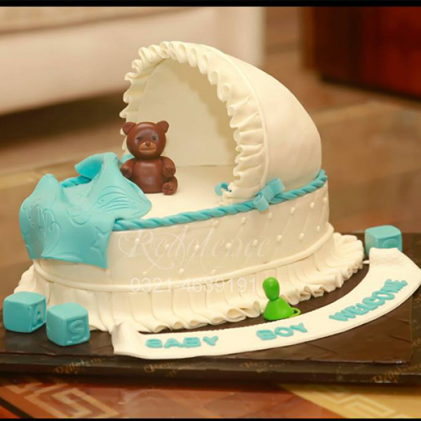 4lbs New Born Baby Boy Cake from Redolence Bake Studio