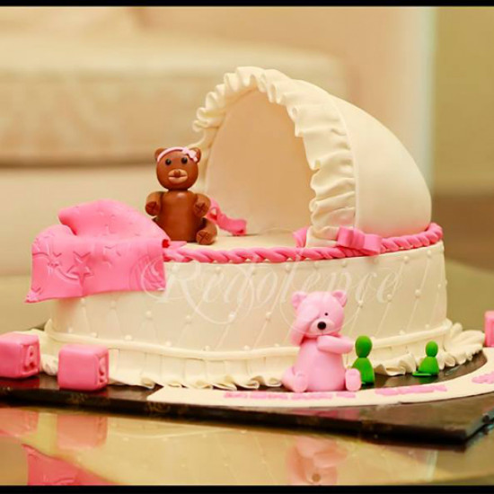 4lbs New Born Baby Girl Cake from Redolence Bake Studio
