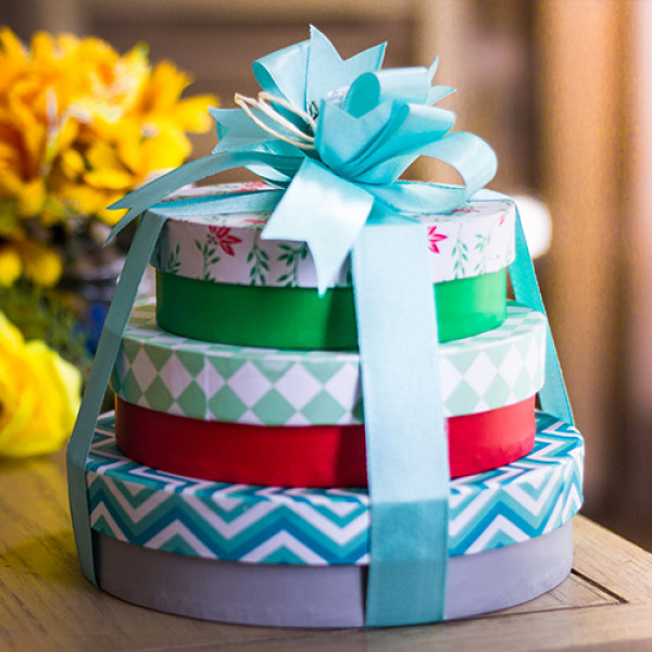 Lals Chocolates Round Tower Box