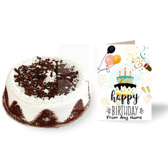Cake with Birthday Card