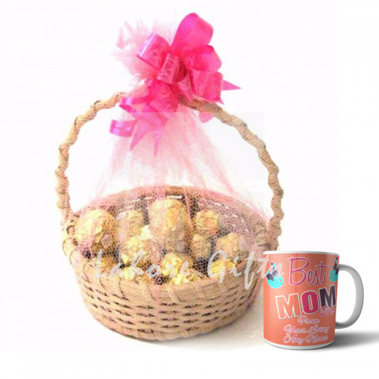 Chocolate Basket with Best Mom Ever Mug