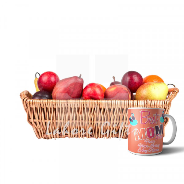 Fruit Basket with Best Mom Ever Mug