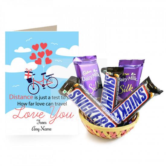 Lovable Chocolates Basket
