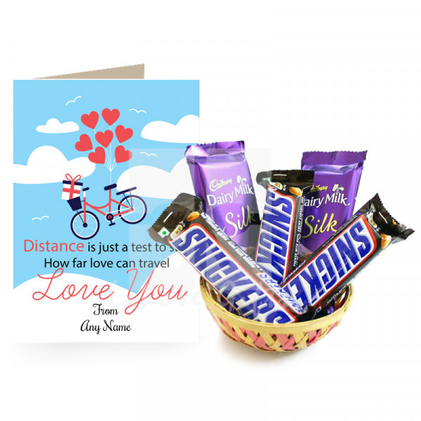 Lovable Chocolates Basket