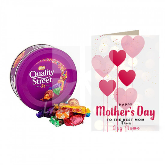 Mothers Day Card with Nestle Quality Street Chocolates