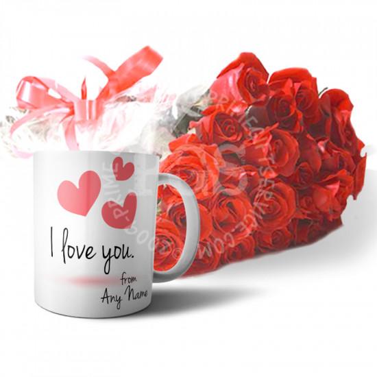 Personalised Love Mug with Roses