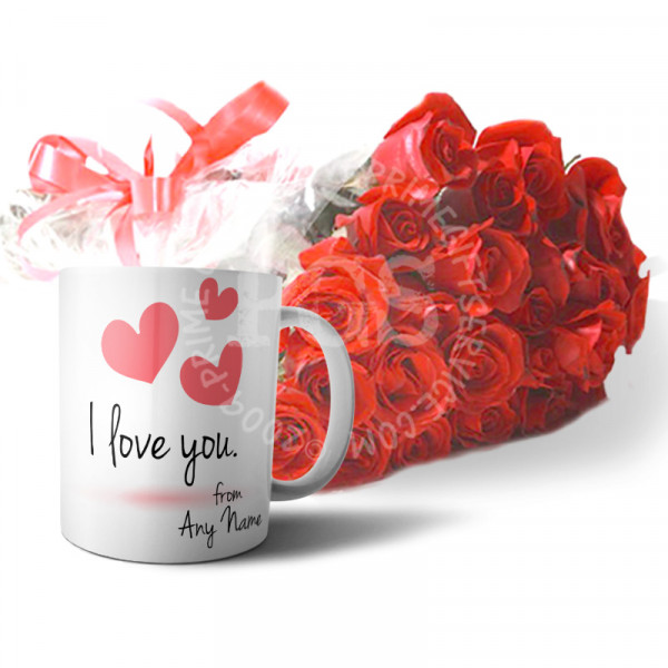Personalised Love Mug with Roses
