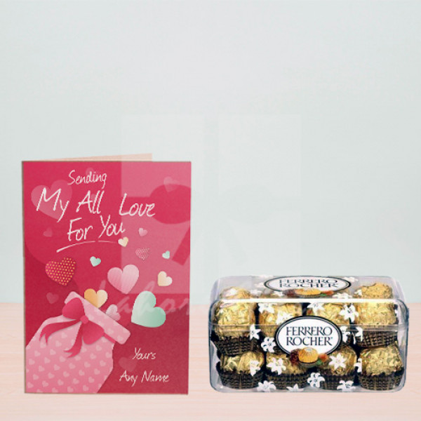 Free Be Mine Card with Ferrero Chocolates