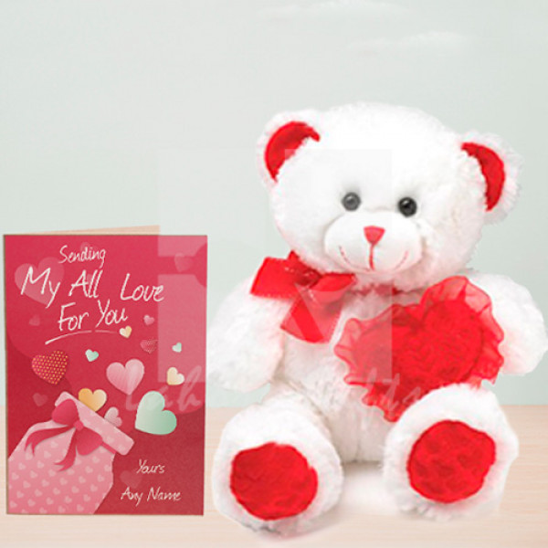 Love Card with Bear to Lahore