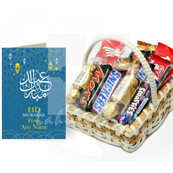 Chocolate Basket with Eid Card