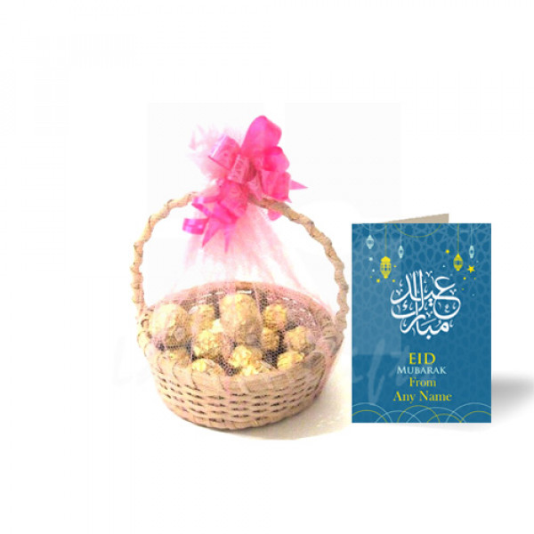 Eid Card with Ferrero Rocher Basket