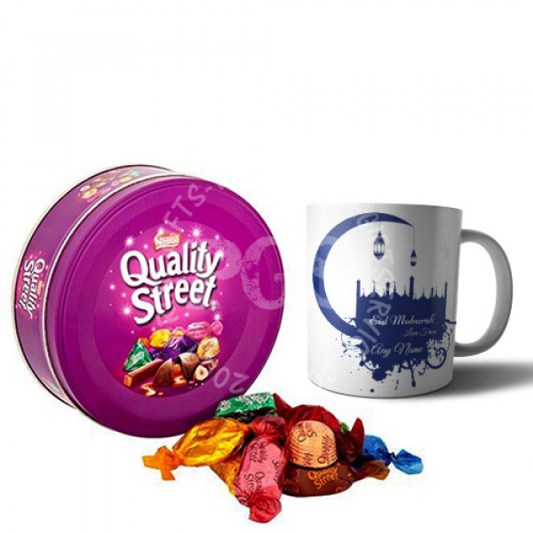 Eid Mug with Quality Street Chocolates