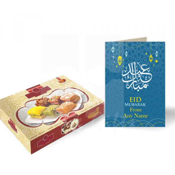 Mithai with Eid Card