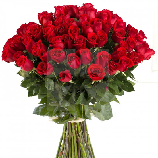 Fascinated 100 Red Roses Bouquet