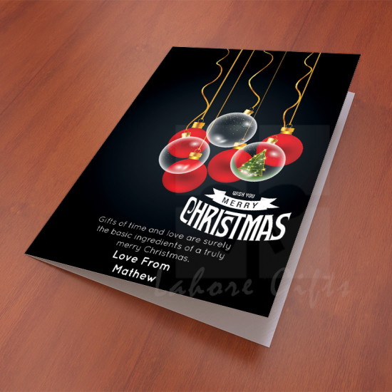 Black and Red Christmas Card
