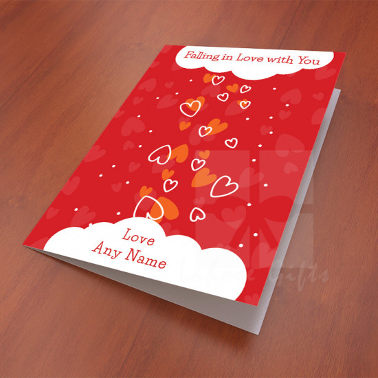 Falling in Love Personalised Card