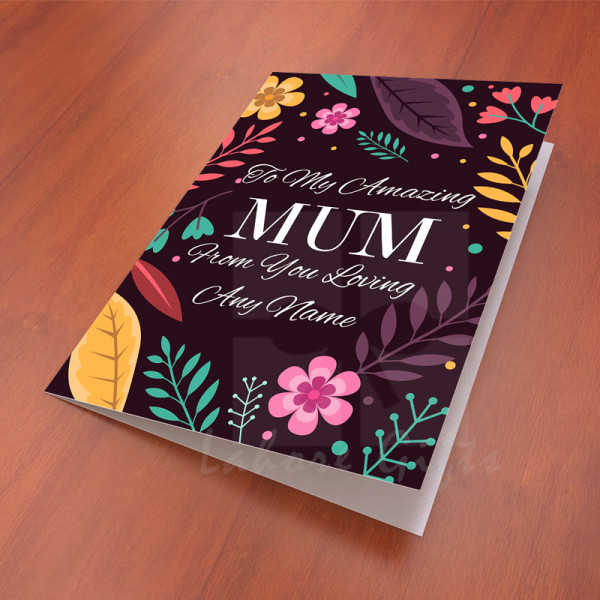 Floral Card for Amazing Mum