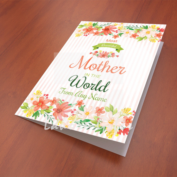 Most Beautiful Mother in the World Card