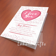 I Love You wish Card