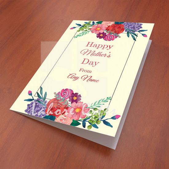 Vintage Floral Card for Mothers Day