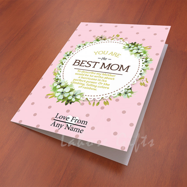 You are the best Mom Card