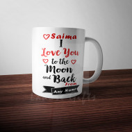 Personalised Love to Moon and Back Mug
