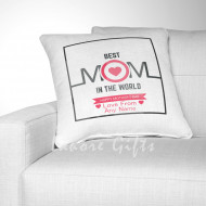 Best Mom In The World - Personalised Cushion