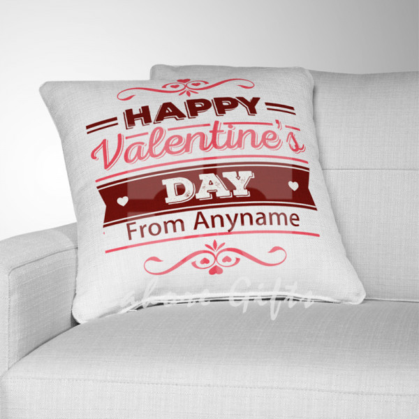 Personalised Happy Valentines Day Cushion