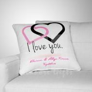 I Love You Couple Heart Cushion