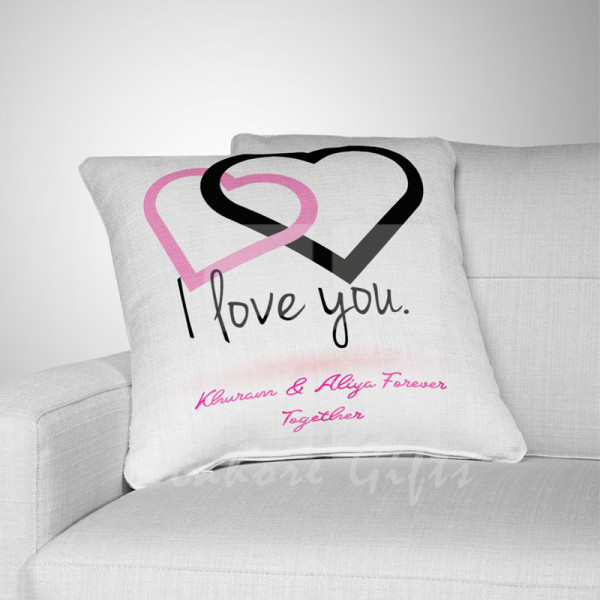 I Love You Couple Heart Cushion