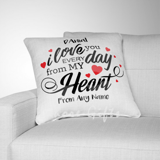 Personalised I Love You Every Day Cushion