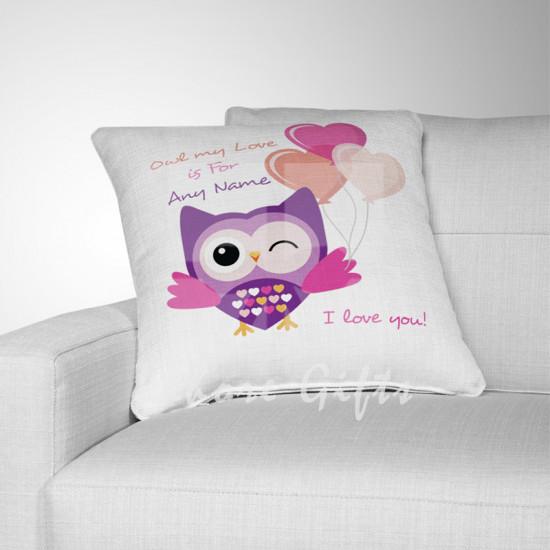Personalised Love Owl Cushion