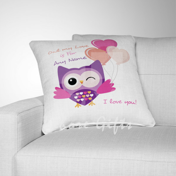 Personalised Love Owl Cushion