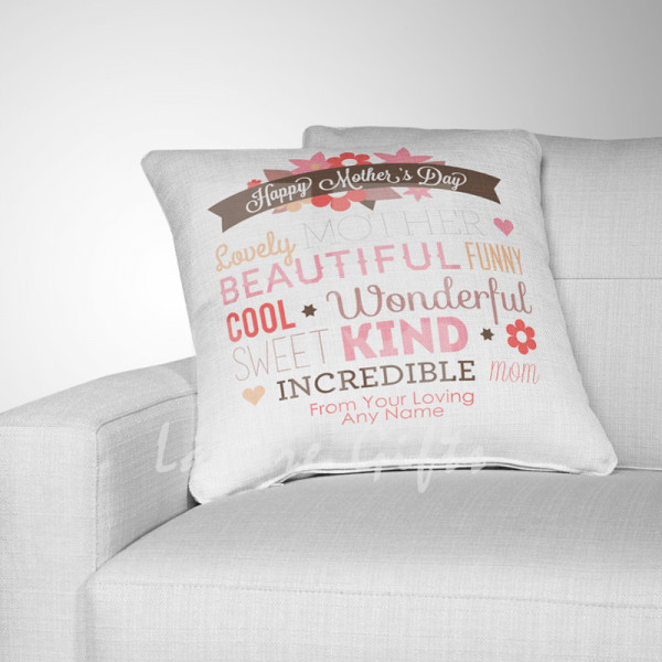Mothers Day Typographic Cushion