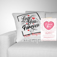 Free Card with Love You Forever Cushion